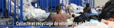 Collecte et recyclage de vêtements et textile